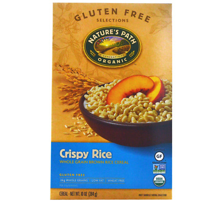 New Nature's Path Organic Crispy Rice Cereal Low Fat Wheat Free Vegan Daily Food