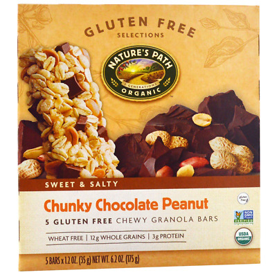 New Nature's Path Gluten Free Selections Chewy Granola Bars Sweet & Salty Daily
