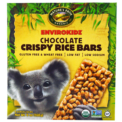 New Nature's Path Envirokidz Crispy Rice Chocolate Cereal Bars Low Fat Daily