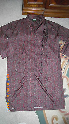 Vintage Living by Tootal Shawl Collar Smoking Jacket Dressing Gown Robe Large