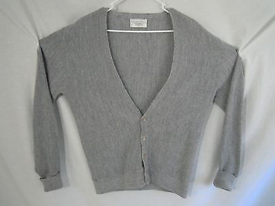 Vintage CHRISTIAN DIOR Gray Cardigan Sweater Mens Size Large