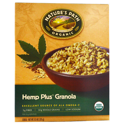 New Nature's Path Organic Hemp Plus Granola Cereal Fiber Whole Grain Daily Foods