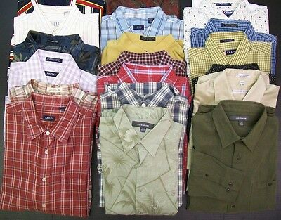 20 PC Mixed Lot Men Dress Shirts Wholesale Clothing RESALE THRIFT BOUTIQUE
