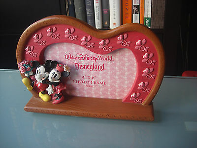 Disney World Mickey and Minnie Mouse Photo Frame Holds 4x6 Photo