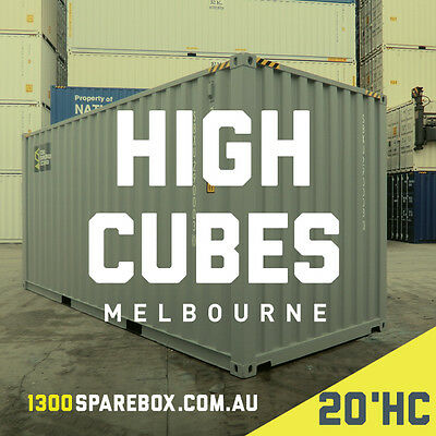 SHIPPING CONTAINERS - 20FT HIGH CUBE - NEW BUILDS - Melbourne