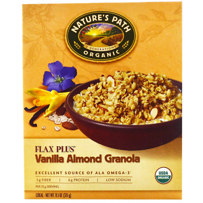New Nature's Path Organic Flax Plus Granola Cereal Vegan Omega 3 Healthy Foods