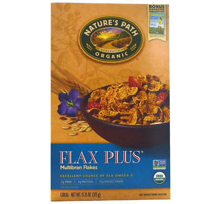 New Nature's Path Organic Flax Plus Multibran Cereal Vegan Omega 3 Healthy Foods