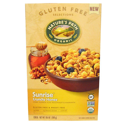 New Nature's Path Organic Sunrise Crunchy Honey Cereal Fiber Source Daily Foods