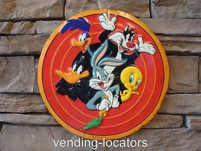 "Looney Tunes Bugs Bunny Embossed Metal 13"" Tin Sign Vintage Cartoon New"