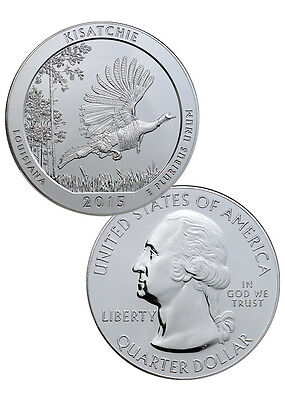 2015 5 Oz .999 Silver America the Beautiful - Kisatchie NP 25c ATB Coin SKU35483