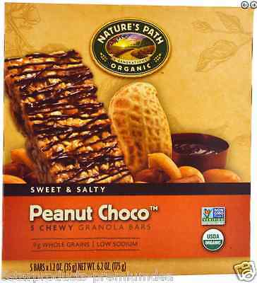 New Nature's Path Organic Chewy Granola Bars Peanut Choco Sweet & Salty Daily