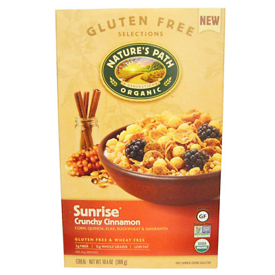 New Nature's Path Organic Sunrise Crunchy Cinnamon Cereal Fiber Source Daily