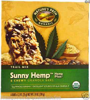 New Nature's Path Organic Chewy Granola Bars Hemp Sunny Sweet & Salty Daily Food