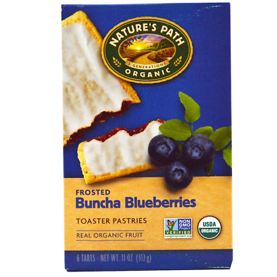 New Nature's Path Organic Frosted Toaster Pastries Buncha Blueberries Daily Food