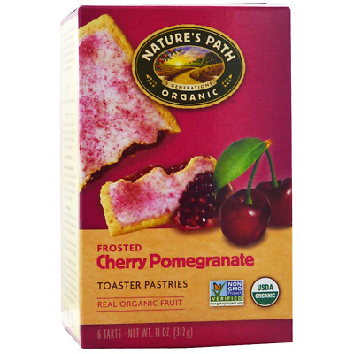 New Nature's Path Organic Frosted Toaster Pastries Cherry Pomegranate Daily Food