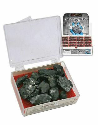 3x Anthracite Coal Gift Boxes - Mineral Carbon - Naughty Christmas Present - NEW