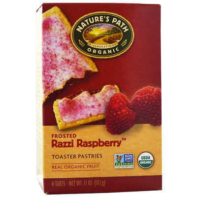 New Nature's Path Organic Frosted Toaster Pastries Razzy Raspberry Daily Food