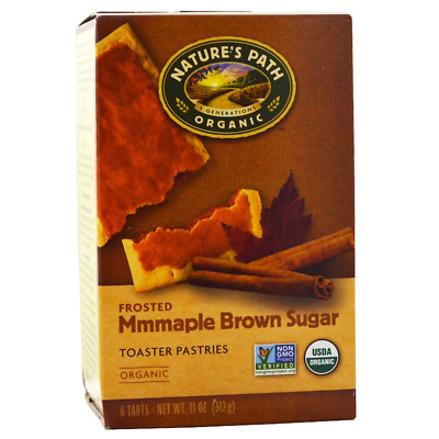 New Nature's Path Organic Frosted Toaster Pastries  Maple Brown Sugar Daily Food