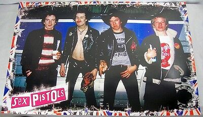 """Sid Vicious 2008 The Sex Pistols God Save The Queen 24x36"""" Punk Rock Poster OOP"""