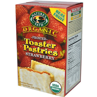 New Nature's Path Organic Frosted Toaster Pastries Strawbery Daily Food Healthy