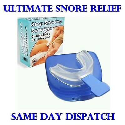 Anti Snore Snoring Mouth Guard Device Sleep Aid Stop Apnoea Stop Snoring