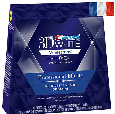 Crest3D White Luxe Professional Blanchiment Dentaires 10 sachets /20 bandes