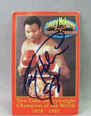 Larry Holmes autographed card