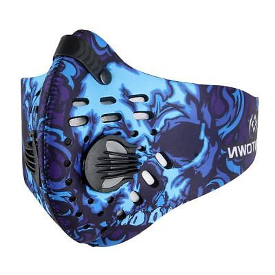 Anti Dust Motorcycle Bicycle Cycling Bike Ski Half Face Mask Filter Blue