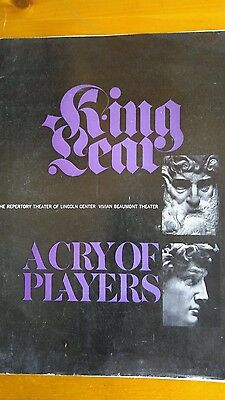 King Lear/A Cry of Prayers Program Guide. 1970