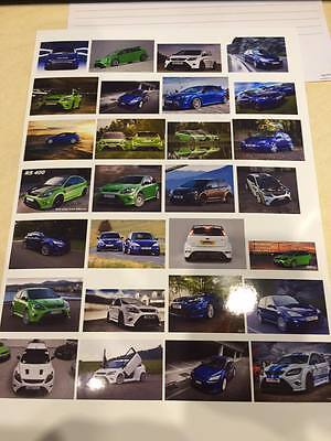 1/18 diorama FORD FOCUS RS MK1-2 showroom /garage posters