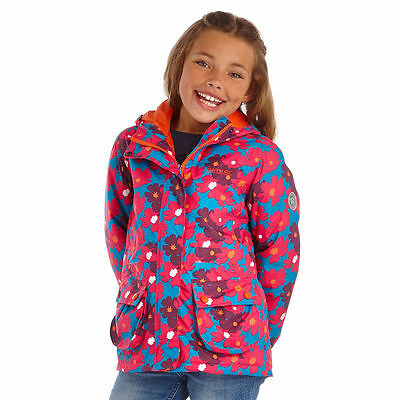 Regatta Coat - Regatta Girls Bouncy Enamel Waterproof Floral Print Jacket