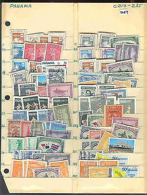 s2259 Stamp Accumulation Panama  Stock Page