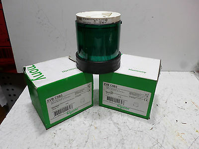 SCHNEIDER HARMONY -- Qty of 2 -- STACK LAMP - GREEN LED FLASHING - XVB C5B3