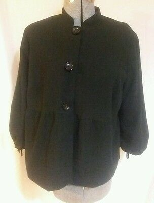 Liz Lange Maternity black coat large L button front