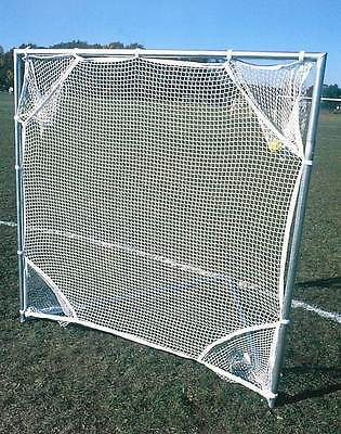 Lacrosse Shot Net w Pockets in White & Blue [ID 3766]