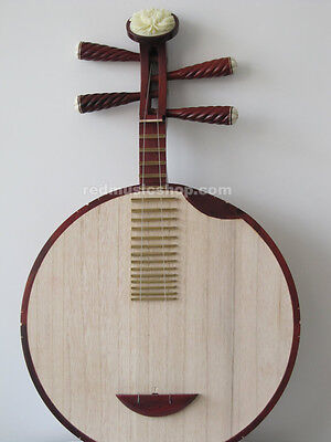 Professional red sandalwood Chinese Yueqin lute, Moon Guitar