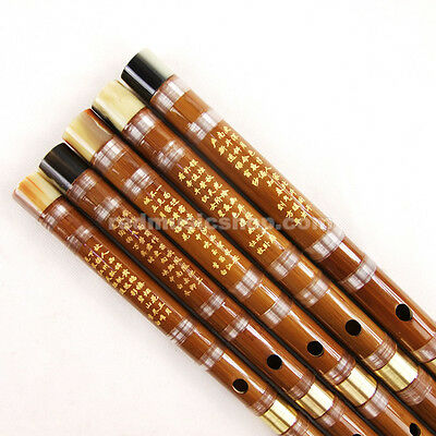 Pluggable Bamboo Flute,Dizi Kit,Imitation OX Horns at both ends,Chinese Flute
