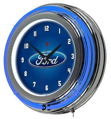 Ford Oval Double Rung Neon Clock [ID 3456821]
