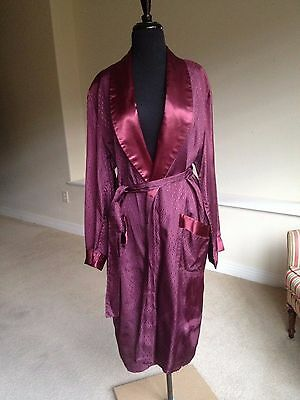 Men's Vintage Smoking Jacket Robe 1960