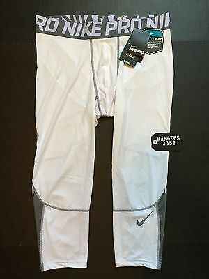 Nike Pro Hypercool Compression Interference 3/4 White 811619-100 Men's Size 2XL