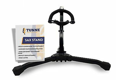 Tunne Saxophone Stand for Alto/Tenor Easily Adjusts to Display and Secure Your