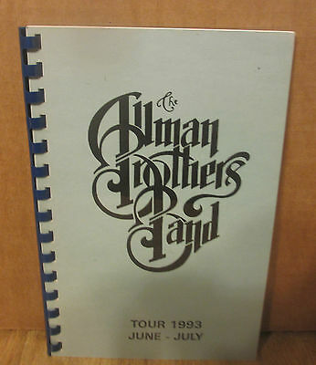 THE ALLMAN BROTHERS BAND June July 1993   TOUR ITINERARY