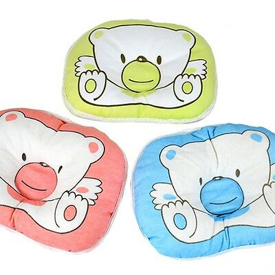 Newborn Baby Support Cushion Pad Prevent Flat Head Bear Pattern Pillow