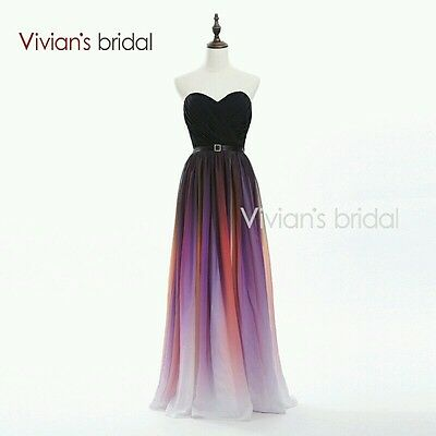 Chiffon Formal Evening Gown Long Prom Pageant Party Ball Bridesmaid Dress