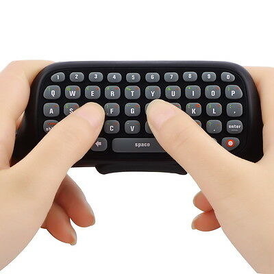 2x Wireless Controller Messenger Game Keyboard Keypad ChatPad For XBOX 360 Black