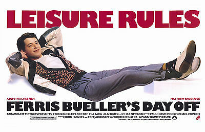 FERRIS BUELLER'S DAY OFF Movie Poster - 80s Comedy Full Size Print - Broderick