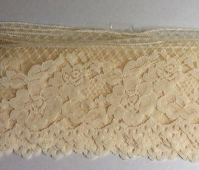 Vintage  Lace Trim Edging Cream Doll  Baby Craft Heirloom Sewing 10cm wide x 1m