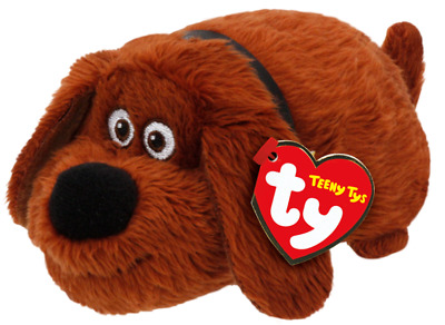 """Ty 4"""" Teeny Tys The Secret Life of Pets DUKE New w/ Heart Tags MWMT's Stackable"""