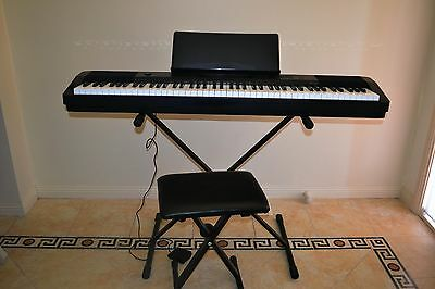Electric Piano with adjustable stand and stool
