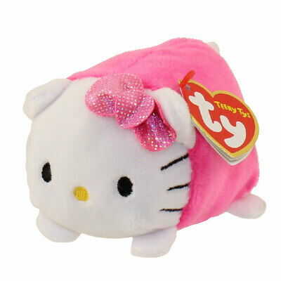 Ty Beanie Boos Teeny Tys HELLO KITTY PINK New Heart Tags MWMT's Stackable Plush